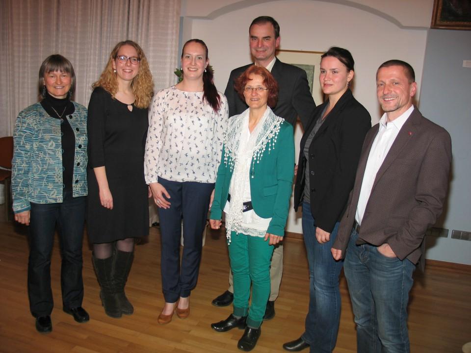 Vorstandschaft 2016 bei Preisträgerkonzert  von rechts
